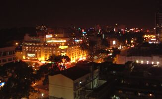 Downtown Saigon by night